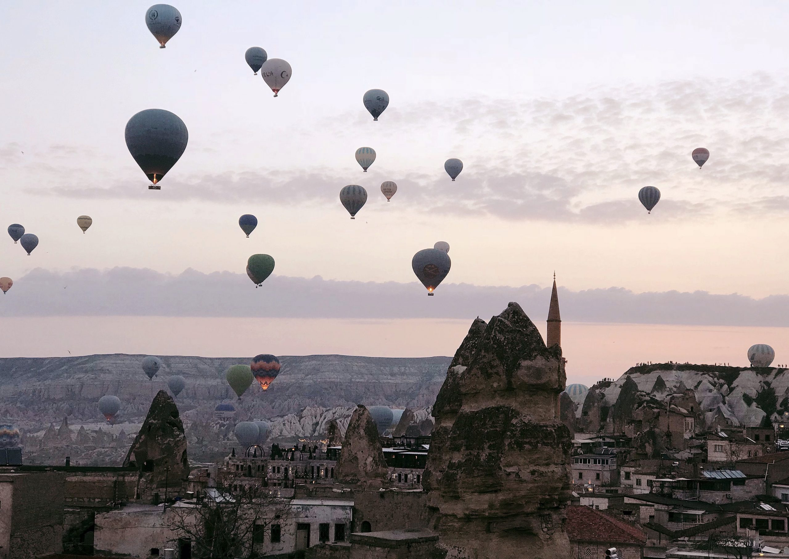 На большом воздушном шаре: путешествие в Каппадокию