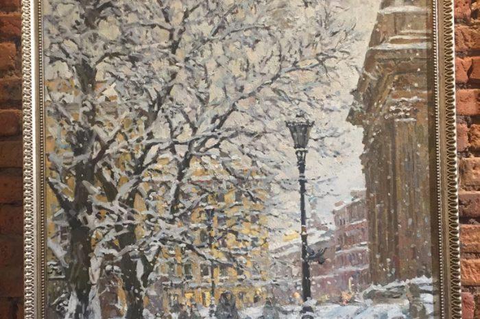 """Стены """"Артмузы"""" запорошило снегом"""