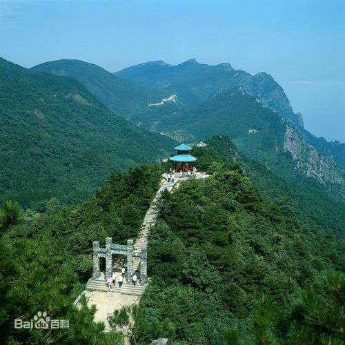 голубой лес на горе Лушань