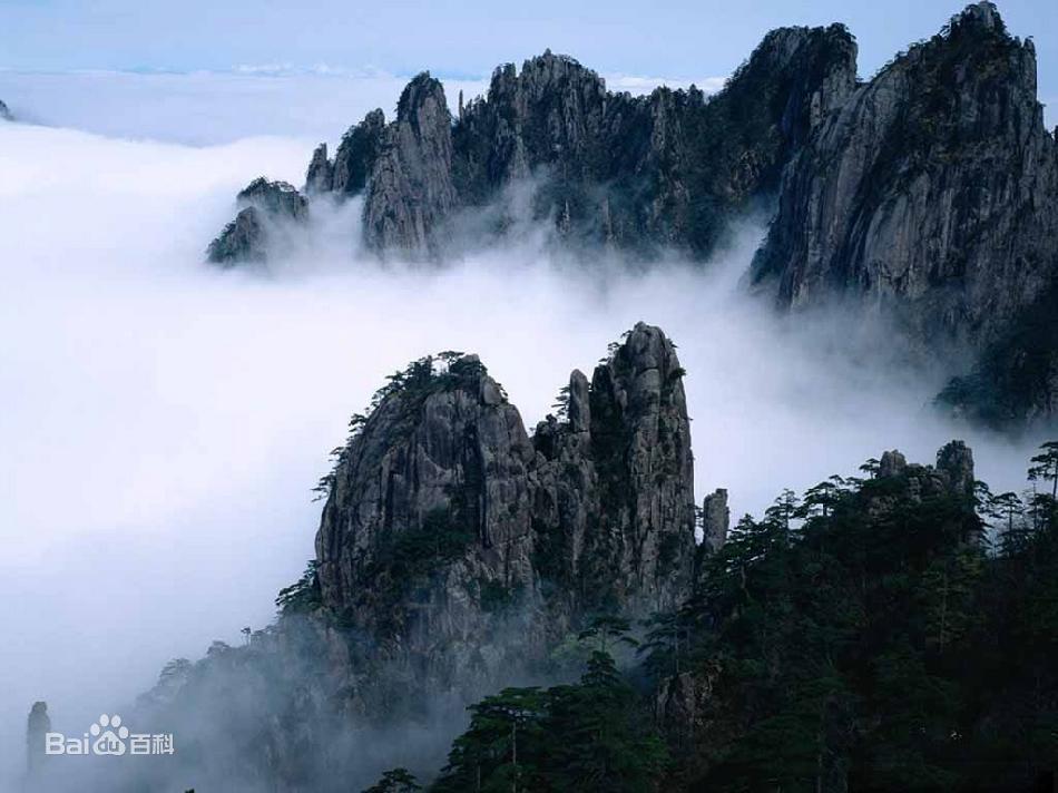 Вершина горы Хуаншань