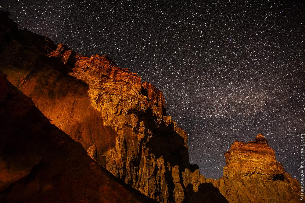 Ночной Чарын, Каньон в Казахстане, Чарынский каньон, долина замков